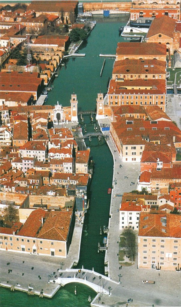 Venezia: Rio dell'Arsenale, veduta aerea